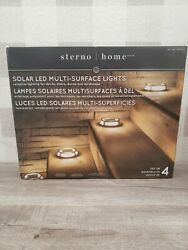 Sterno Home Solar Multi Surface Light 4 pack NEW ✅
