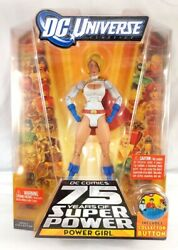 DC Universe • 75 YEARS OF SUPER POWER • POWER GIRL • New w Stand MOC OOP $25.99