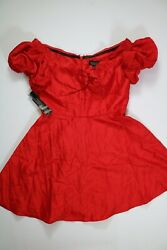 Women#x27;s Topshop Red Dress Size 8 NEW NWT $14.99