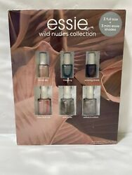 NEW Essie Wild Nudes Collection Nail Lacquers 3 Full Size 3 Mini Shades 6 Pack $18.95
