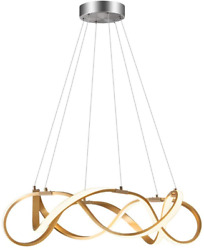 Qamra Modern Dimmable LED Chandelier Fashion Spiral Ring Remote Control Pendant $30.44