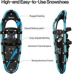 HRKING Snowshoes Set Youth Snowshoes with Trekking PolesCarrying Tote Bag $75.99