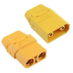 AMASS XT90 Male Female Gold Plated RC Connector with Cap 40A $8.77