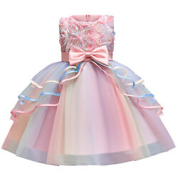 Unicorn Dress for Girl Party Princess Costume Kids Tutu Gown with Headband $19.99