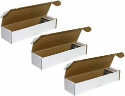 BCW 800 Count Card Storage Box for Standard 20pt Trading Gaming Cards 3 Pack $9.99