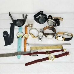 Lot Of 12 Watches For Parts Or Repair Invicta Fossil Diesel Pulsar Timex More $46.39