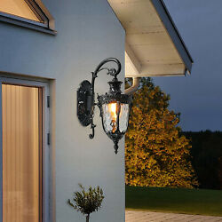 Outdoor Light Fixture Wall Mount with Dusk to Dawn Sensor Exterior Wall US