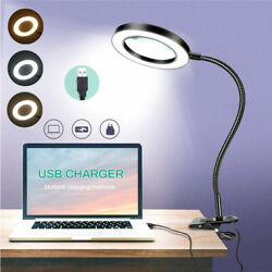 Dimmable Desk Lamp Clip On LED Flexible Arm USB Study Reading Table Night Lights $15.98