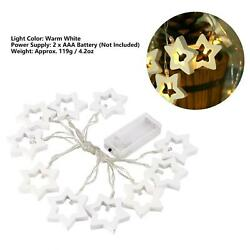 Beautiful Wood Six Pointed Star Shape LED String Light Decorative Lighting For.