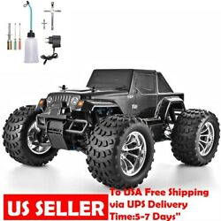 OFF Road RC Monster Truck 4WD 1:10 Scale Nitro Gas Remote Control Car High Speed $309.99