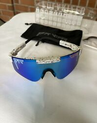 pit viper sunglasses polarized BLUE New with 2 replacements frames $40.99