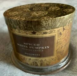 Homeworx Spiced White Candle Wick by Harry Slatkin 3 Wick Brown Candle $19.95
