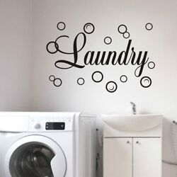 Laundry Room Vinyl Wall Decals Quotes Art Stickers Removable DIY Home Decor $9.90