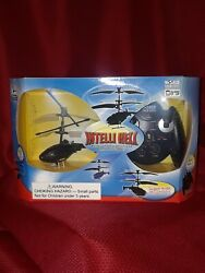 REMOTE CONTROL BLACK HELICOPTER RC Intelli Heli World Tech 3 ch channel 3.5quot; TOY $22.69