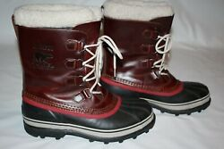 SOREL Caribou Waterproof Snow Men#x27;s Boots Pre Owned Great Condition Sz 10.5 $75.99