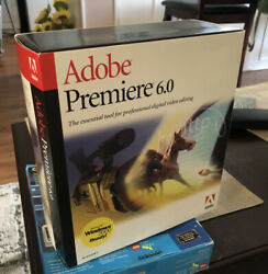 Adobe Premiere 6.0 Video Editing Software For Windows Vintage 90s C $60.00