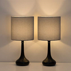 HAITRAL Small Table Lamps Vintage Bedside Nightstand Lamps Set of 2 for Dorm amp; $30.01