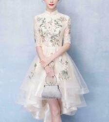 Bridesmaid Party Ladies party Mid Sleeve Chinese Wedding Lace Slim Fit Dress New $54.91