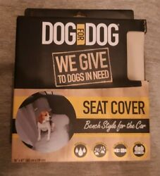 Brand New quot;Dog For Dogquot; Car Vehicle Seat Cover 56 x 47 Inches Bench Style Gray. $15.95