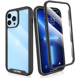 For iPhone 12 13 Pro Max12 Mini Clear Case Cover With Built in Screen Protector $8.98