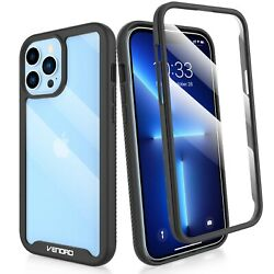 For iPhone 12 13 Pro Max12 Mini Clear Case Cover With Built in Screen Protector $4.98