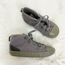 Converse All Star Toddler 10 Purple Gray Mid Top Chuck Taylor Sneakers $17.99