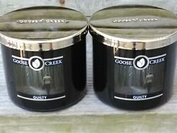 2 Goose Creek Candle For Men GUILTY w Leather amp; Woods 14.5oz 3 Wick Candles NEW $39.99
