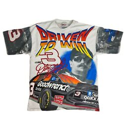 1996 Dale Earnhardt In The Driver#x27;s Seat All Over Print Shirt Size XL Double $149.95