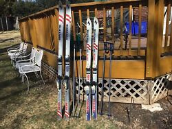 WOMENS OR YOUTH BLIZZARD FAN GLIDER 160 SKIS MARKER 23 BINDINGS AND SCOTT POLES $15.00