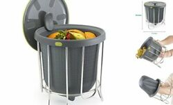 Kitchen Composter Flexible silicone bucket inverts for emptying and cleaning $44.84