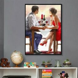 Lovely Couple Drinking Wine Wall Art Canvas Paintings Room Decor Poster Prints $26.82