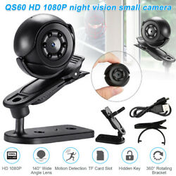 Night Vision Small Camera Qs60 Hd 1080p Wide Field Of View Portable charged $12.78