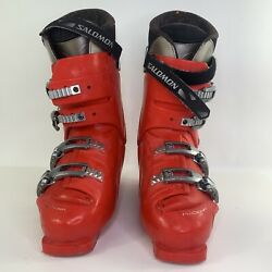 SALOMON PERFORMA 7.0 SKI BOOTS SIZE 28.0 Pro Link Equip Red $39.99