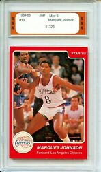 1984 85 Star #13 Marques Johnson SSA 9 Mint Los Angeles Clippers $8.09