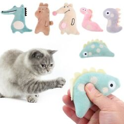 Funny Grinding Bite Teeth Kitten Thumb Pet Supplies Cat Toy Chewing Toy Catnip C $8.82