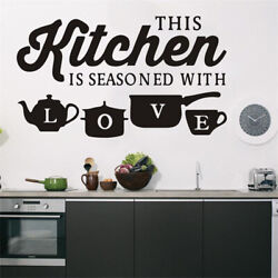 Kitchen Wall Decals Removable Vinyl Sticker Art Home Personalised Decor Mural US $7.31