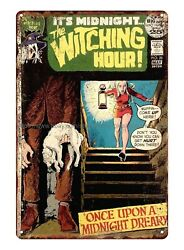 accent wall bedroom The Witching Hour 1973 metal tin sign $15.98