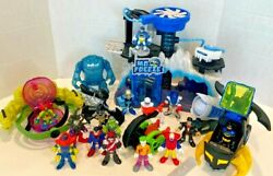 Imaginext Mr Freeze Headquarters Ion Orbiter Batman Helicopter And Figures $55.00