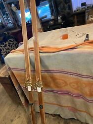 Vintage Bonna Wooden Cross Country Skis Model 2000 Made In Norway WALL HANGERS $75.00