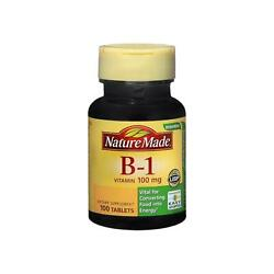 Nature Made Vitamin B 1 100 mg Tablets 100 Tablets Pack of 2 $12.79