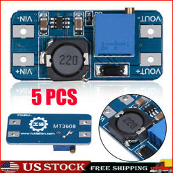 5PCS MT3608 2A DC DC Step Up Power Apply Module Booster Power Module for Arduino $9.56