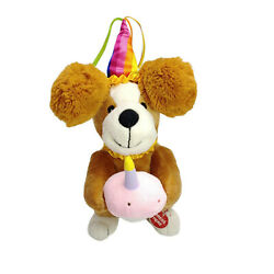 Happy Birthday Singing Dog Battery Operated Plush Toy 30cm Steam Cleaned AU $29.00