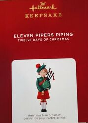 Hallmark 2021 Eleven Pipers Piping 12 Days of Christmas Ornament $17.55