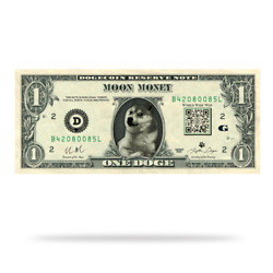 DOGE DOLLAR STICKERS Lot of 10 Stickers $19.99