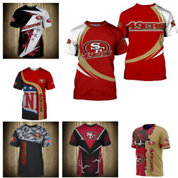 3D Men#x27;s San Francisco 49ers Casual Tee Top Short Sleeve T Shirt Gift for Fans $18.90