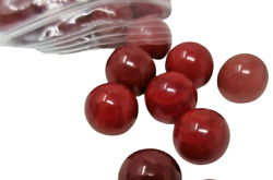 50 Glass MARBLES Red Shades Matte Shiny Vintage Estate NEW $9.99