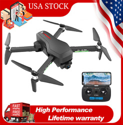CSJ X7 PRO GPS Drone with 4K HD Camera WIFI RC Foldable Quadcopter Brushless Toy $135.99