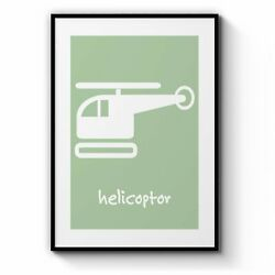 Cartoon Helicopter Boys Bedroom Toddler Wall Art AU $410.00