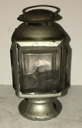 Rare Small 1800's American Candle Lantern Skater Christmas Tree Beveled Glass $104.30
