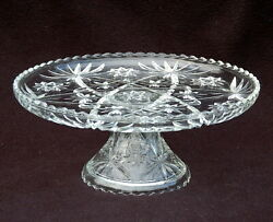 STAR OF DAVID EAPC 13quot; CAKE STAND Plate and Pedestal ANCHOR HOCKING EXC $35.00